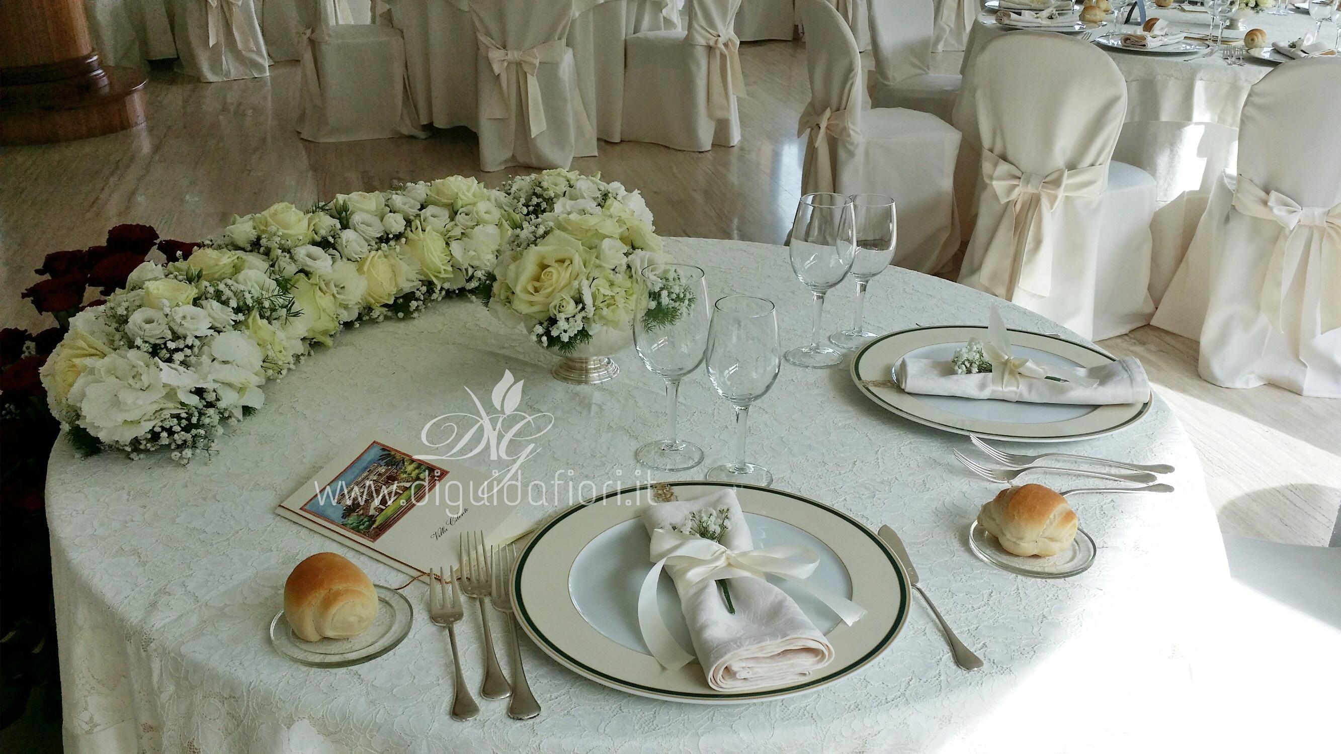 Addobbi ricevimenti fiorista roberto di guida - Addobbi tavoli matrimonio casa ...