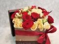 fiori in scatola quadrata