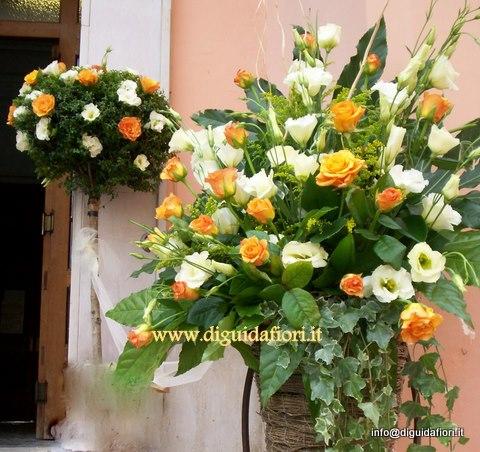 addobbo floreale panna e arancio