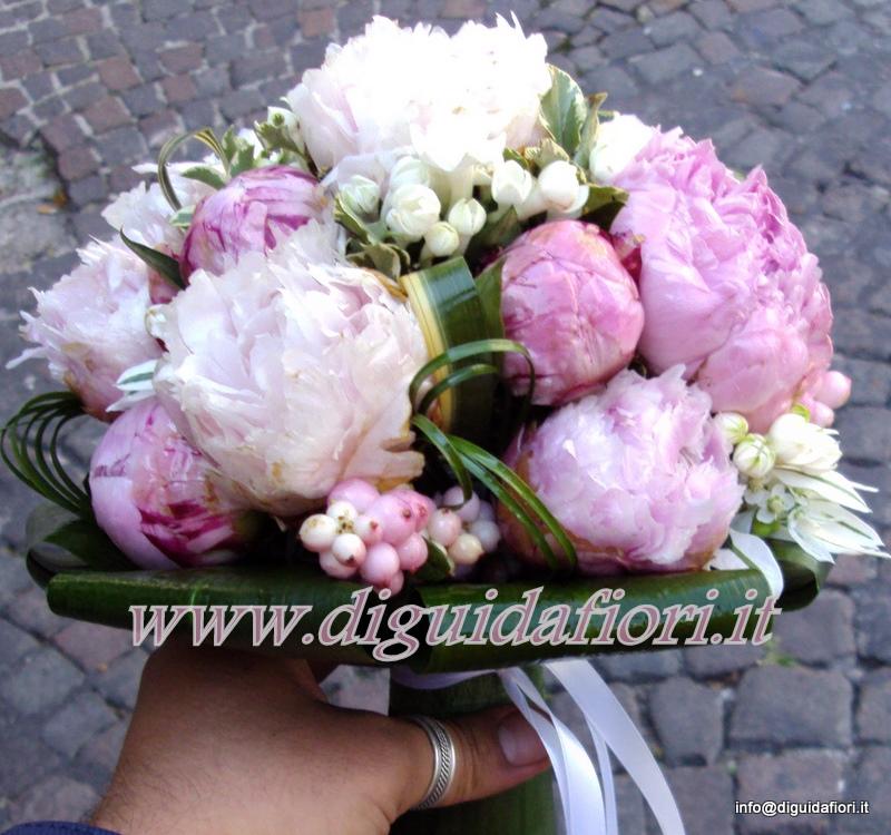 Bouquet Da Sposa Peonie.Bouquet Da Sposa Con Peonie Fiorista Roberto Di Guida