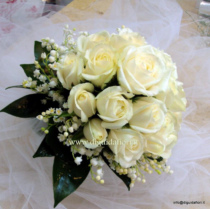 Bouquet Da Sposa Con Mughetti.Bouquet Da Sposa Con Rose E Mughetti Fiorista Roberto Di Guida