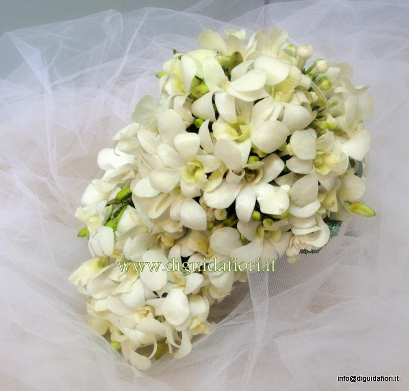 Bouquet Sposa Orchidee E Fiori D Arancio.Bouquet Da Sposa Con Orchidee Dendrobium Fiorista Roberto