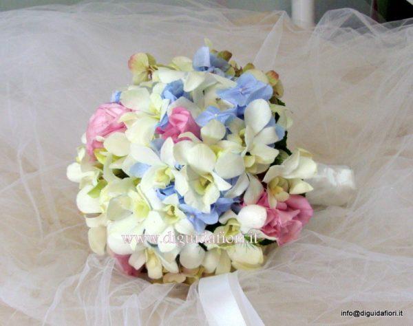 Bouquet Ortensie E Orchidee : Bouquet da sposa con orchidee e ortensia fiorista