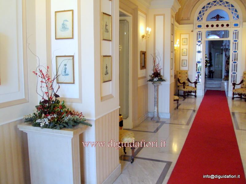 Ingresso Villa Cilento – composizioni natalizie
