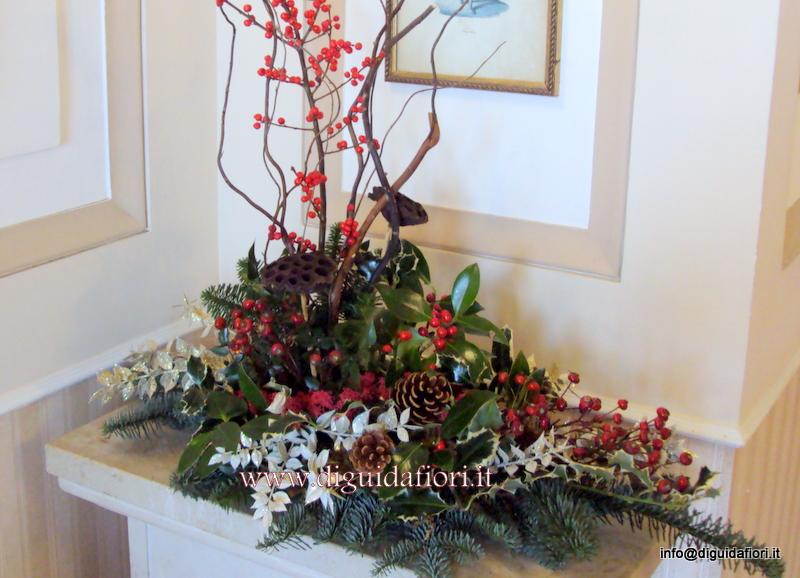 Addobbi Floreali Matrimonio Periodo Natalizio : Composizione natalizia fiorista napoli