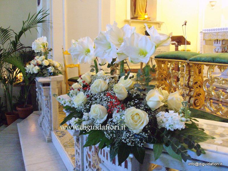 Addobbo floreale-matrimonio chiesa San Luigi Gonzaga