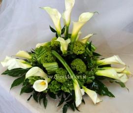 centrotavola floreale per promessa di matrimonio