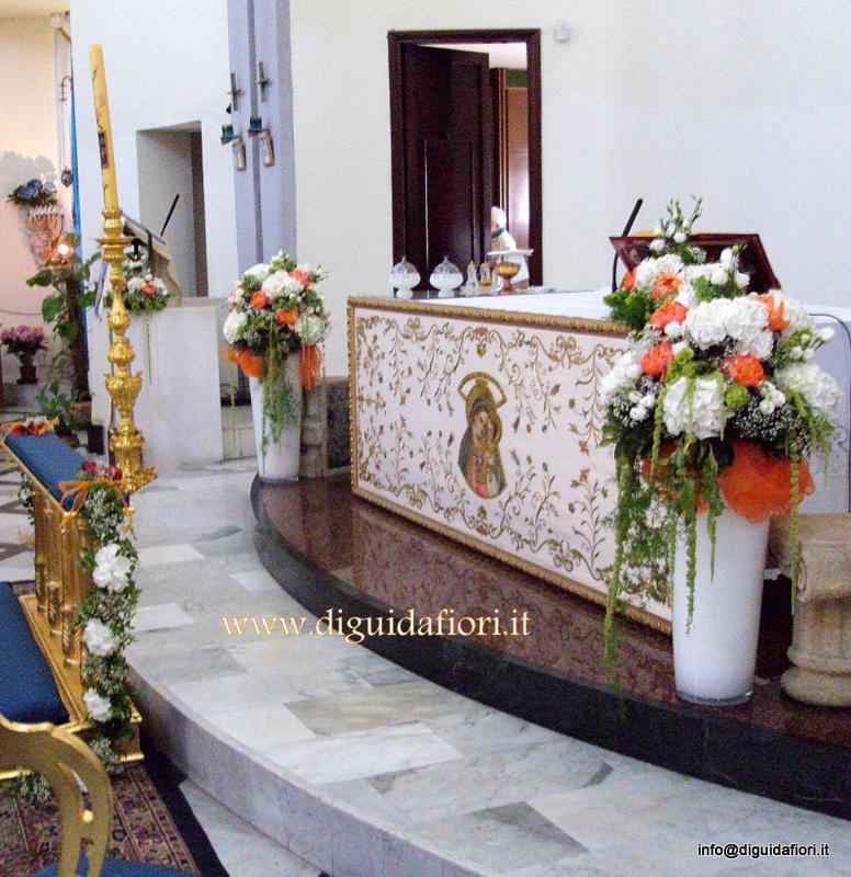 Addobbo floreale con ortensie e peonie – Matrimonio Napoli – Chiesa di Santa Maria del Buon Consiglio a Confalone