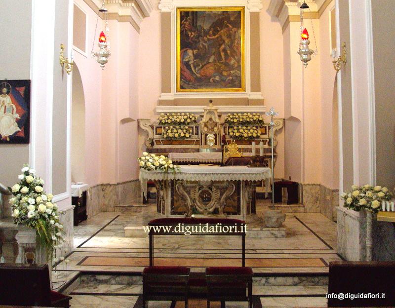 Addobbo floreale per matrimonio – Santuario di San Gennaro a Pozzuoli – Fiorista Napoli
