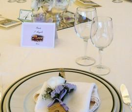 segnaposto  floreale per matrimonio