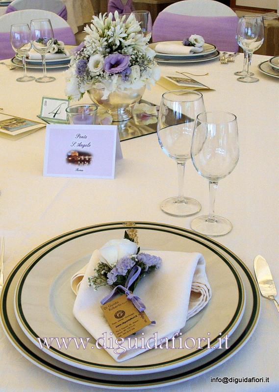 Matrimonio Tema Floreale : Segnaposto floreale per matrimoni fiorista roberto di guida
