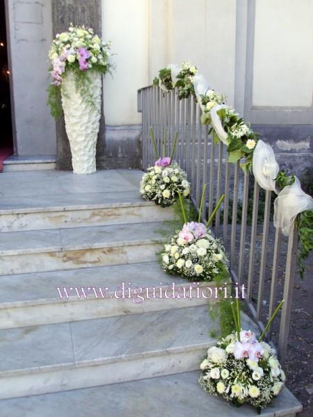 Addobbo floreale con dalie e orchidee phalaenopsis matrimonio napoli fiorista roberto di guida - Addobbi casa sposa ...