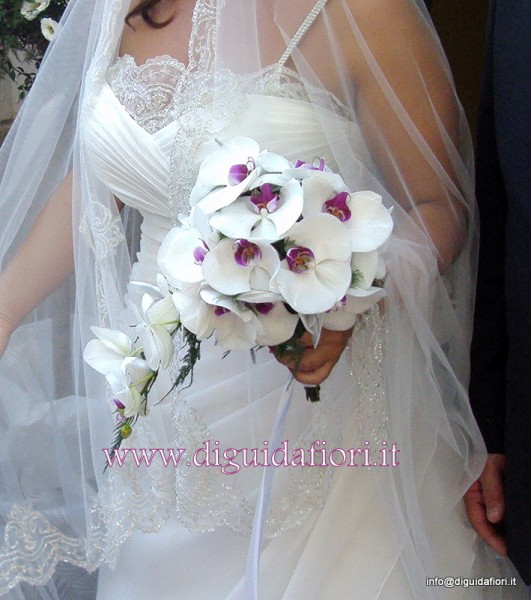 bouquet da sposa con orchidee