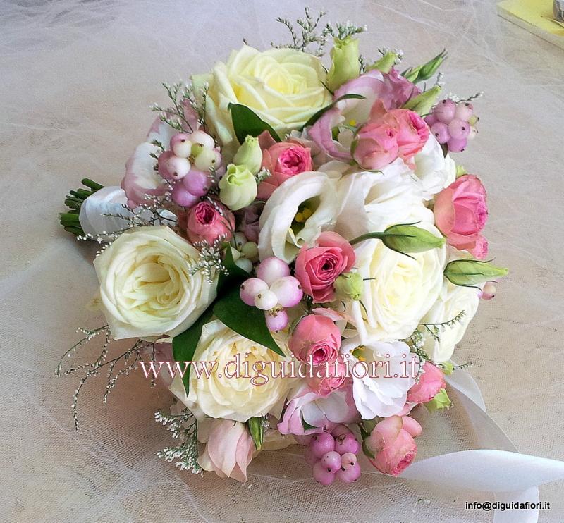 Matrimonio In Rosa E Bianco : Bouquet da sposa bianco e rosa nozze napoli fiorista