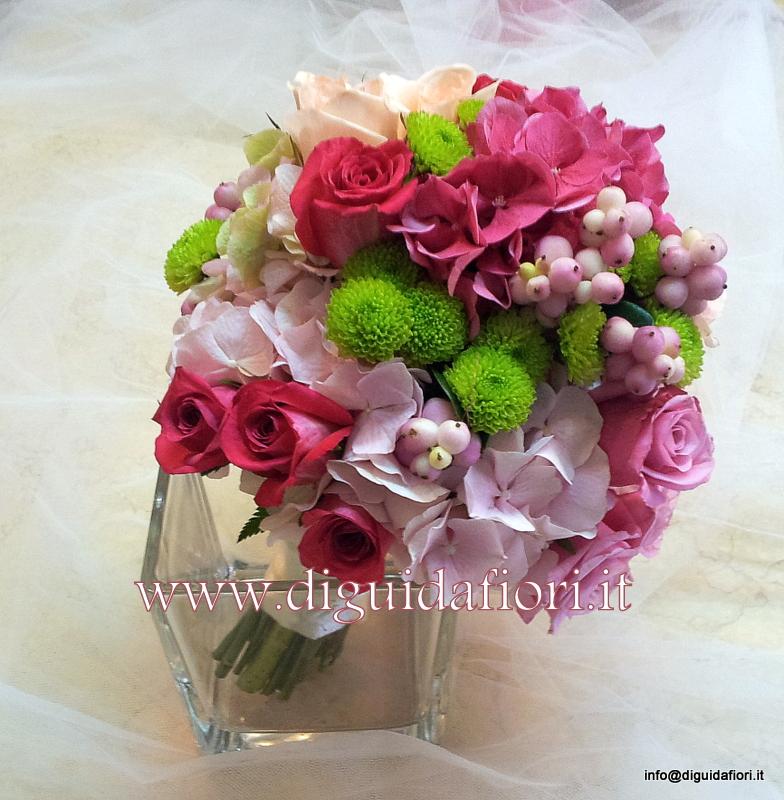 Bouquet Sposa Fucsia.Bouquet Da Sposa Fucsia Matrimonio Napoli Fiorista