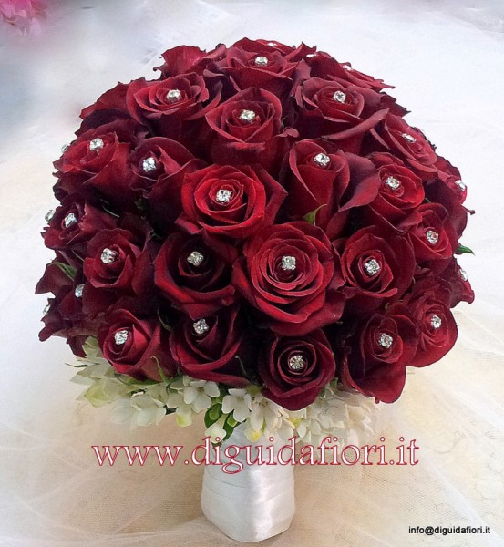 Amato Bouquet da sposa con rose rosse - Sposa Napoli - Fiorista Roberto  RC25