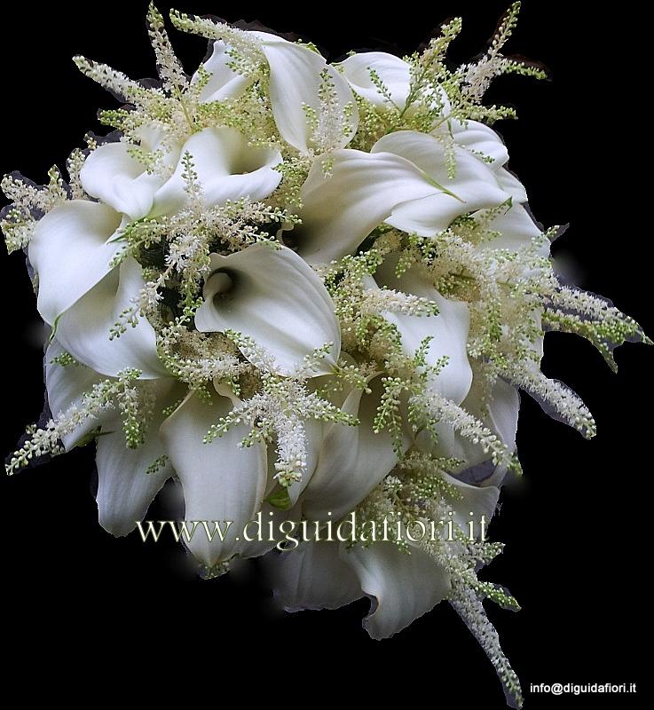 Bouquet da sposa con calle e astilbe – Matrimonio Dicembre Napoli