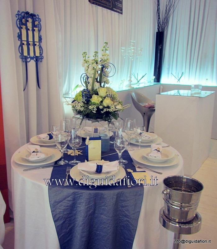 Centrotavola floreale in tema marino – Addobbi floreali per matrimoni