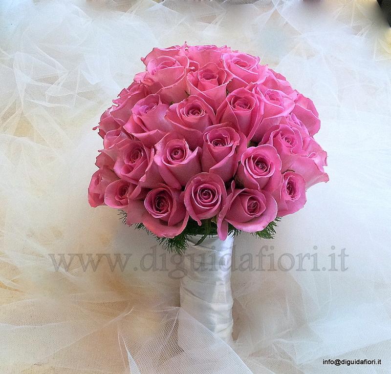 Bouquet da sposa con rose aqua – Matrimonio Napoli