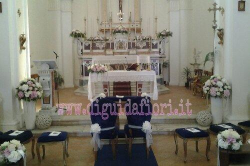 Chiesa del Castello di Limatola – addobbo floreale per matrimonio