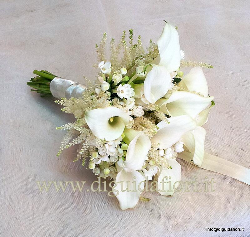 Bouquet Sposa Rose E Calle.Bouquet Da Sposa Con Calle Bouvardia E Astilbe Matrimonio