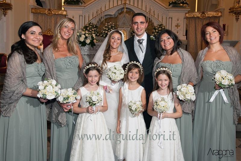 Gli sposi con le damigelle d'onore – Scene di un Matrimonio