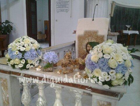 Addobbo floreale per matrimonio in tema marino – Fiorista Roberto Di Guida