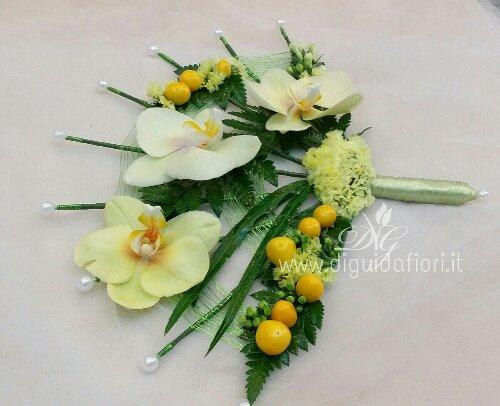 Bouquet da sposa a forma di ventaglio