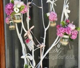 Composizioni floreali per matrionio shabby chic