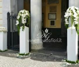 Addobbo floreale per matrimonio – Chiesa di San Gennaro a Pozzuoli