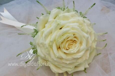 Bouquet Sposa Unica Rosa.Bouquet Da Sposa Rosone Fiorista Roberto Di Guida