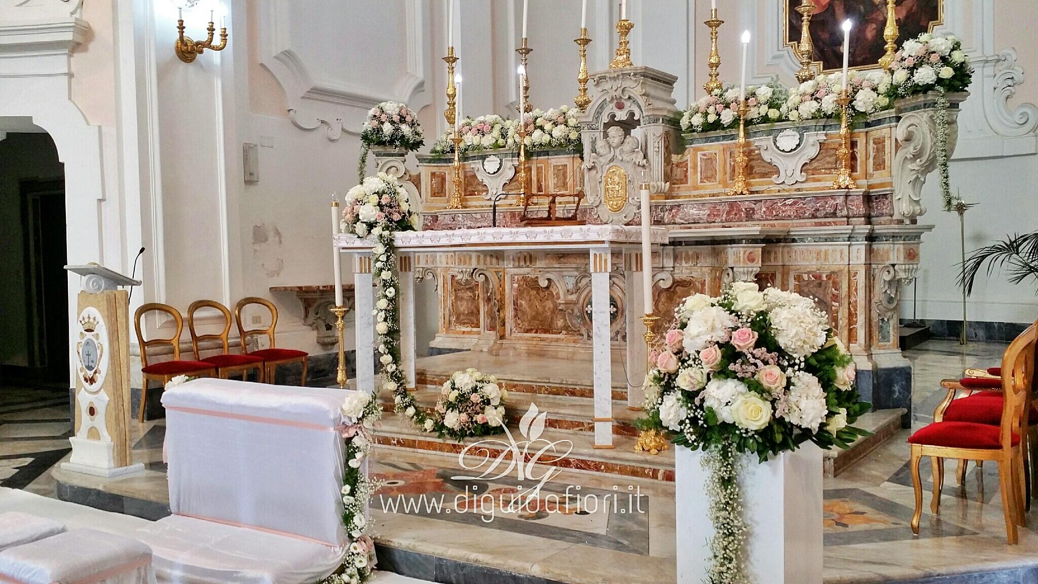 Addobbo floreale per matrimonio – Chiesa di San Michele – Colle Sant'Alfonso