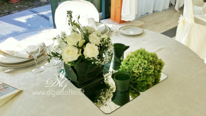Centrotavola floreale per matrimonio – tema sushi