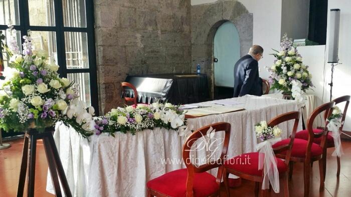 Addobbo floreale con rito civile – Maschio Angioino Napoli