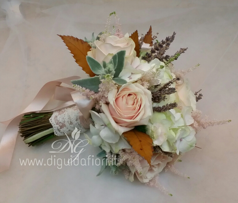 Bouquet da sposa rosa antico – accessori per matrimonio