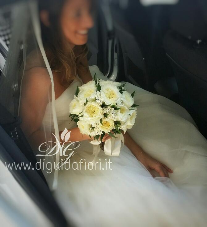 Bouquet da sposa con rose inglesi fiori per matrimonio for Rose inglesi