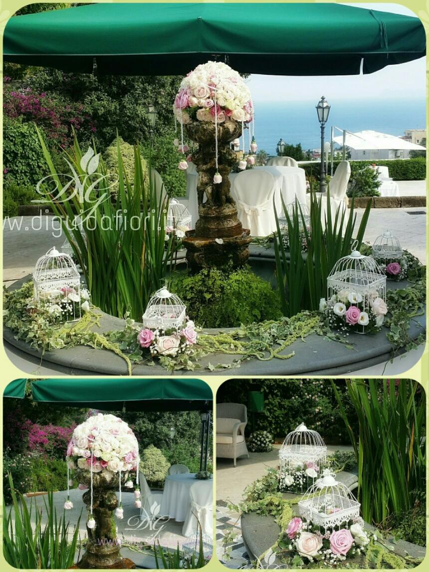 Addobbo floreale per matrimonio – Villa Cilento Posillipo Napoli