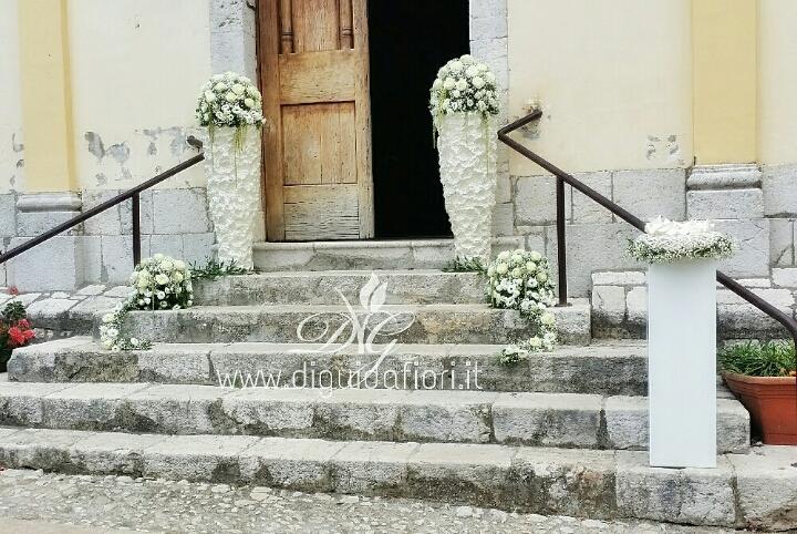 Addobbo floreale total white – fiori per matrimonio