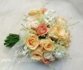 Bouquet da sposa peach