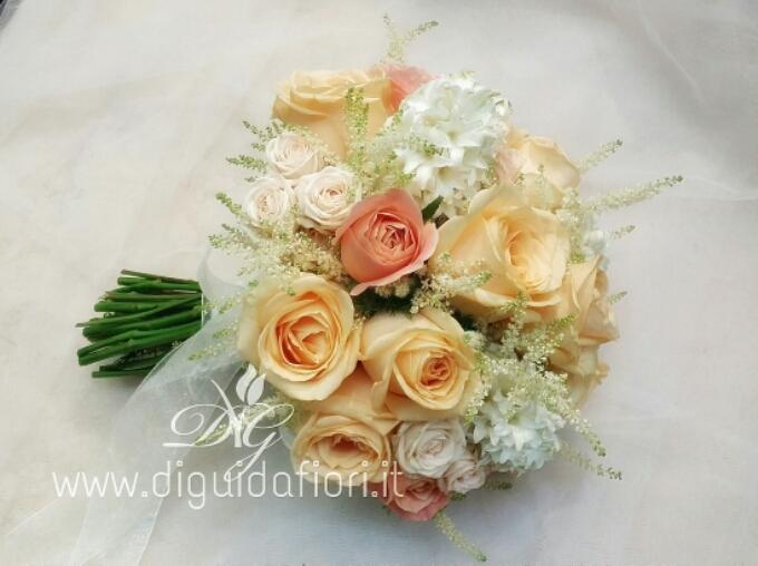 Bouquet da sposa peach