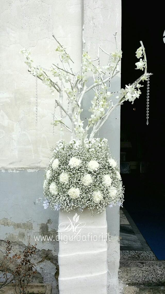 Matrimonio Tema Ghiaccio : Addobbo floreale per matrimonio con tema neve fiorista