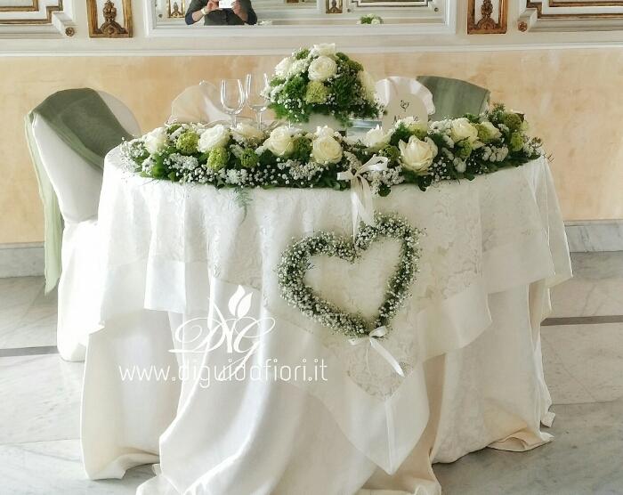 Favori Addobbo floreale per tavolo sposi - Fiorista Roberto Di Guida FZ31