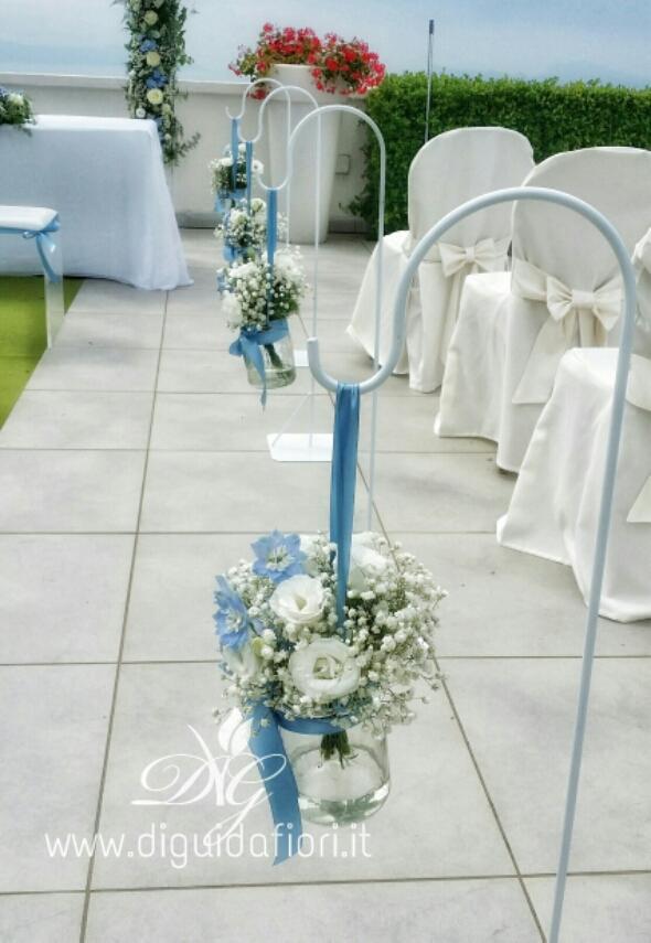 Addobbi Matrimonio Azzurro : Addobbo floreale per matrimonio civile villa cilento posillipo