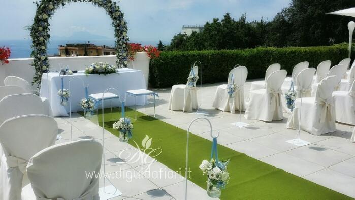 Addobbo floreale per matrimonio civile – Villa Cilento Posillipo Napoli