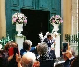 Composizioni floreali per matrimonio – Chiesa San Francesco D'Assisi Napoli