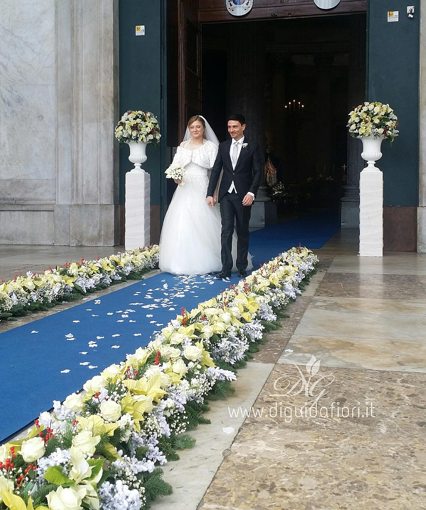 Matrimonio Natalizio Napoli : Addobbo floreale per matrimonio chiesa san francesco di