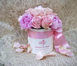 Rose e peonie in scatola – ?Roses and peonie in gift box