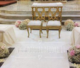 Addobbo floreale per matrimonio – Chiesa San Francesco a Sorrento