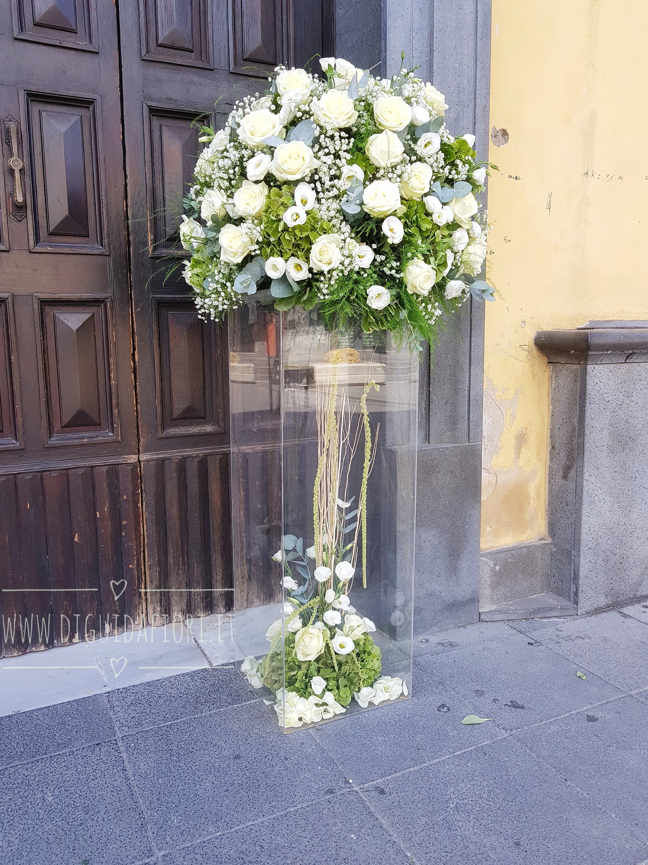 Matrimonio In Total White : Addobbi floreali verde fiorista roberto di guida