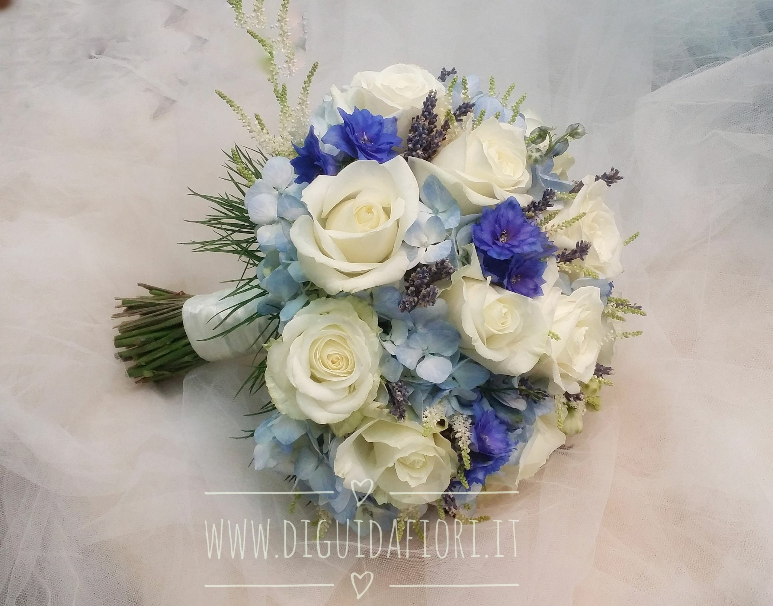 Matrimonio Azzurro E Blu : Bouquet da sposa azzurro e blu fiorista roberto di guida